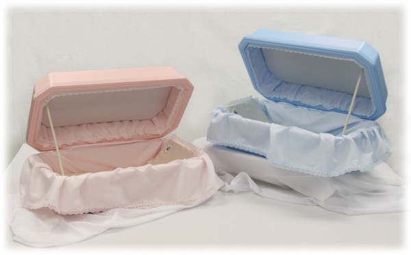 Pink  & Blue Dog Caskets